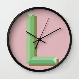 L Wall Clock