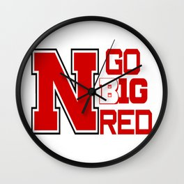 GO BIG RED!! Wall Clock
