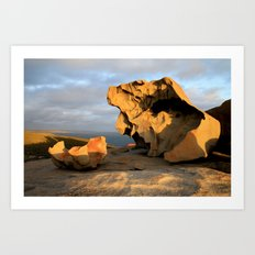 Kangaroo Island Remarkable Rocks Art Print