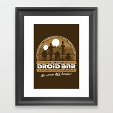 Droid Bar Framed Art Print