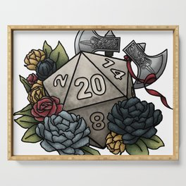 Barbarian Class D20 - Tabletop Gaming Dice Serving Tray
