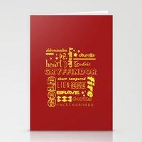 gryffindor Stationery Cards featuring Gryffindor by husavendaczek