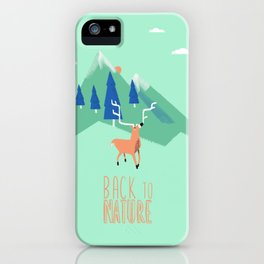 Back to Nature iPhone Case