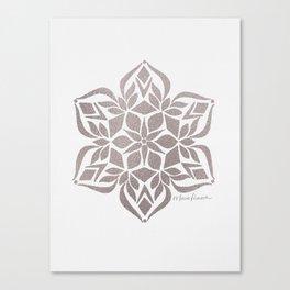 Silver Snowflake Canvas Print