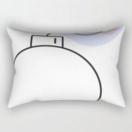 Bomb with burning fuse - Vector Rectangular Pillow