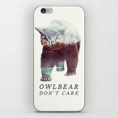 Owlbear (Typography) iPhone & iPod Skin