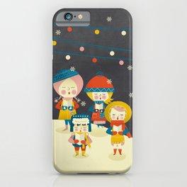Christmas Carols Singers iPhone Case