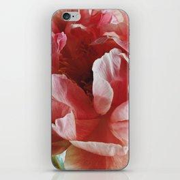 Peach Peony II iPhone Skin