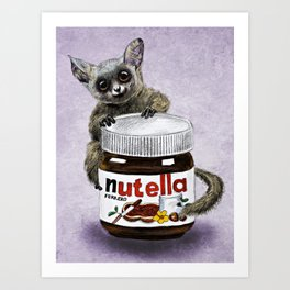 Sweet aim // galago and nutella Art Print