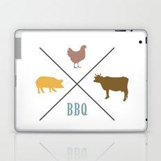 BBQ Hipster Logo Laptop & iPad Skin