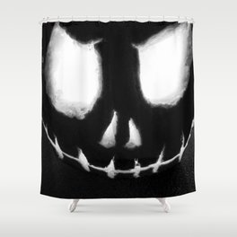the Dark Arts - Jacko B&W Shower Curtain