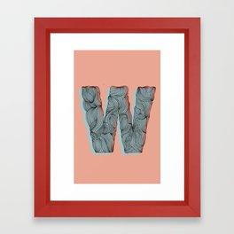 """""""W"""" Doodle Framed Art Print"""
