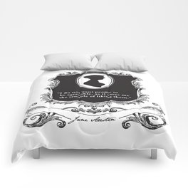 Jane Austen Snarky Quote Comforters