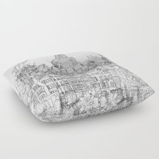 Paris! B&W Floor Pillow