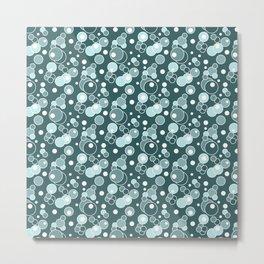 Colorful blue polka dots . Metal Print