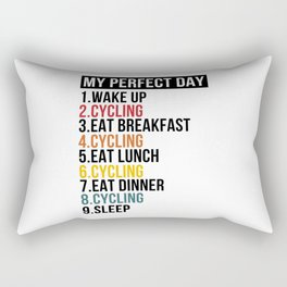 My Perfect Day For Bike Lover & Cyclist Rectangular Pillow