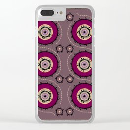 Central Asian Pattern Clear iPhone Case
