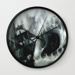 Big Ship Big Wave Wall Clock