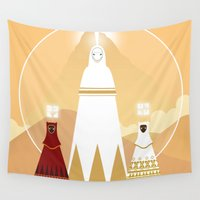 journey Wall Tapestries featuring Journey by OhhhKaye