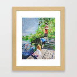 Broomfield days Framed Art Print