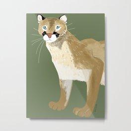 Caturday Puma Metal Print