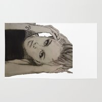 miley cyrus Area & Throw Rugs featuring Miley Cyrus by Brittany Ketcham