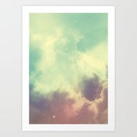 nebula Art Prints featuring Nebula 3 by ThoughtCloud