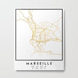 MARSEILLE FRANCE CITY STREET MAP ART Metal Print
