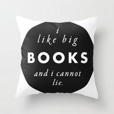 Big Books Love Throw Pillow