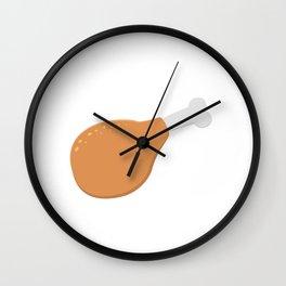 Delicious chicken leg Wall Clock