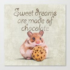 Sweet dreams are made of chocolate Canvas Print