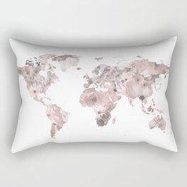 Watercolor Floral Map Nikki Rectangular Pillow
