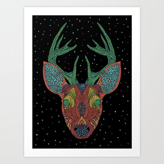 Intergalactic Deer Art Print