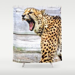 Growl Power Shower Curtain