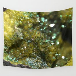Geode Abstract Citrine Wall Tapestry