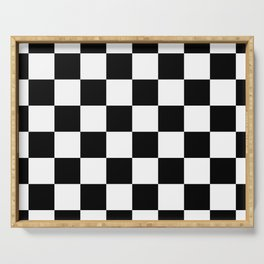 Check (Black & White Pattern) Serving Tray