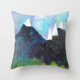 Matterhorn Cirque Mountain Peaks Throw Pillow