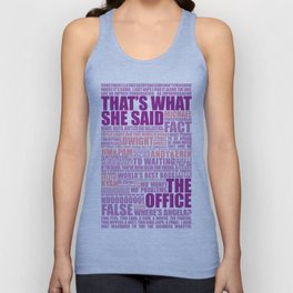 The Office (Purple and Pink) Unisex Tank Top