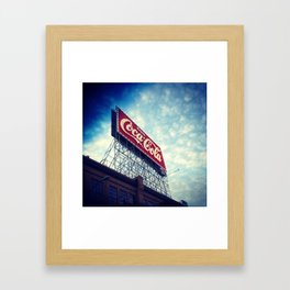 Enjoy the sky Framed Art Print