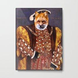Henry VIII Fox Metal Print