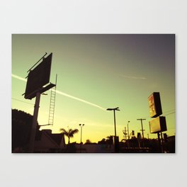 Chemtrail Sunset Canvas Print
