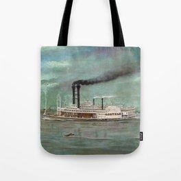 Steamboat Robert E. Lee Painting Tote Bag