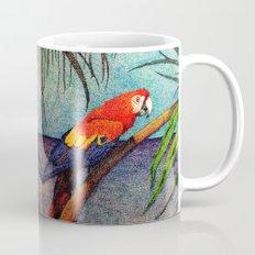 POINTILLISM PARROT Mug