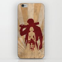 bioshock infinite iPhone & iPod Skins featuring Bioshock Infinite - Booker and Elizabeth by Art of Peach