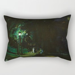 Central Park, Summer Night, Riverside Drive landscape by George Wesley Bellows Rectangular Pillow