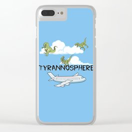 Tyrannosphere Clear iPhone Case
