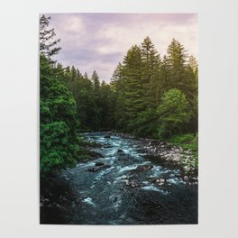 PNW River Run II - Pacific Northwest Nature Photography Poster