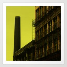 Old factory, Lowell Art Print