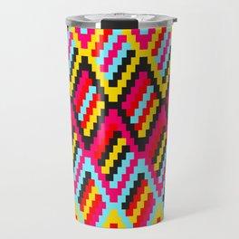 Retro Diamond Pattern (Orko Colorway) Travel Mug