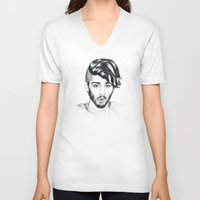 zayn V-neck T-shirts featuring Zayn by wreckthisjessy